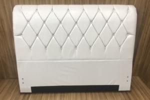 Cabeceira 1.98 m - King Size - Modelo Lavínia - Korino Branco