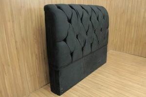 Cabeceira Casal Preto 138 cm de Largura - Modelo Lavínia