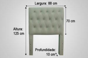 Cabeceira Solteiro Branco 88 cm de Largura - Modelo Hera