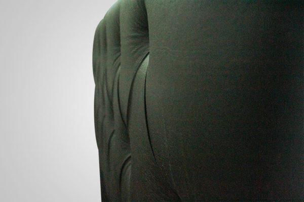 Cabeceira Solteiro Preto 88 cm de Largura - Modelo Hera