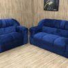 Conjunto 2 x 3 Lugares - Modelo Corsa - Azul Marinho 910