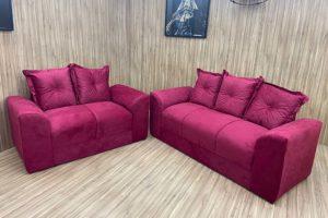 Conjunto 2 x 3 Lugares - Modelo Porto - Vinho 918