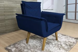 Poltrona Azul - Modelo Nicole