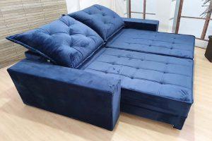 Sofá Retrátil Azul 2.30 m de Largura - Modelo 353 - Preço justo