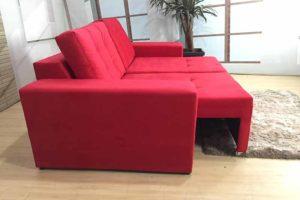Sofá Retrátil Vermelho 1.80 m de Largura- Modelo Malibu - Promoção -