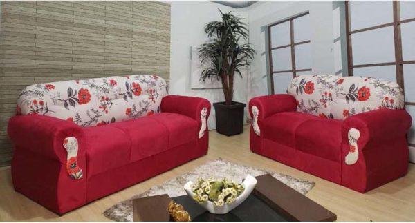 Sofá 2 e 3 Lugares - Modelo 005 Vermelho