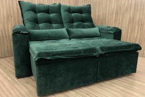 Sofá Retrátil 2.10 m - Modelo Munique - Verde 324