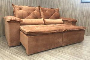 Sofá Retrátil 2.10 m - Modelo Zuqui - Terracota 509