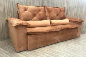 Sofá Retrátil 2.30 m - Modelo Bettoni - Terracota 509