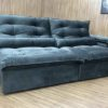 Sofá Retrátil 2.30 m - Modelo Maricá - Cinza Escuro 330