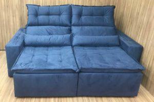 Sofá Retrátil 2.50 m - Modelo Sandiego - Azul 35