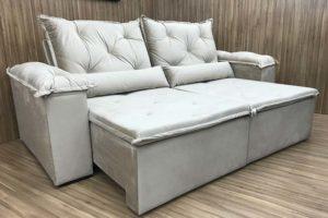 Sofá Retrátil 2.50 m - Modelo Zuqui -Bege 501