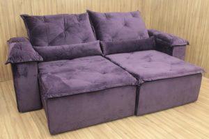 Sofá Retrátil 2.90 m - Modelo Yara - Violeta 6
