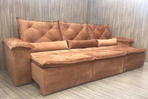 Sofá Retrátil 3.20 m - Modelo Lucchese - Terracota 509