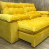 Sofá Retrátil Amarelo 2.50 m de Largura - Modelo Campinas