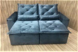 Sofá Retrátil Cinza 2.10 m de Largura - Modelo Esplendor