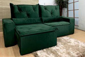 Sofá Retrátil Verde 1.80 m de Largura - Modelo 398