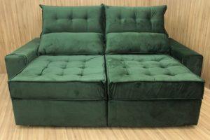 Sofá Retrátil Verde 2.30 m de Largura - Modelo 332