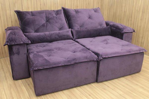 Sofá Retrátil Violeta 2.30 m de Largura - Modelo Bettoni