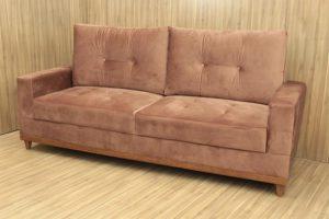 Sofá de 2 Lugares Marrom 2,10 m de Largura - Modelo 008