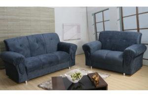 Sofá de 2 e 3 lugares Azul - Modelo 010