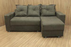 Sofá de 3 Lugares Marrom 2,00 m de Largura - Modelo Chaise 009