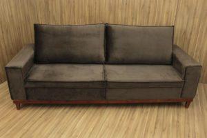 Sofá de 3 Lugares Marrom 2,15 m de Largura - Modelo 010