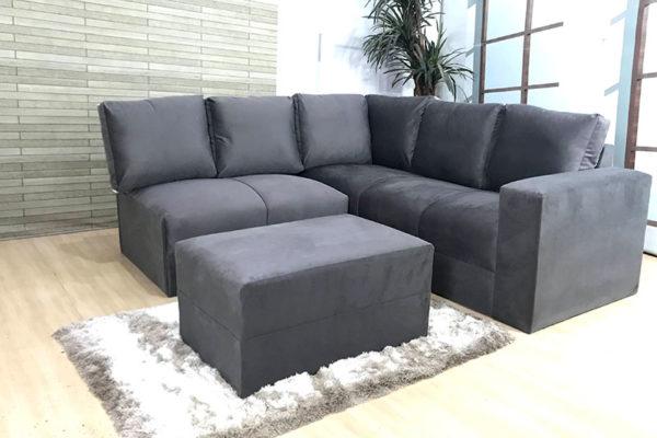 Sofa de Canto Cinza Anetho