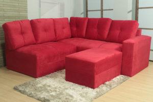 Sofá de Canto Vermelho – Modelo Anetho